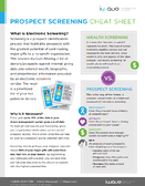 screening cheat sheet page